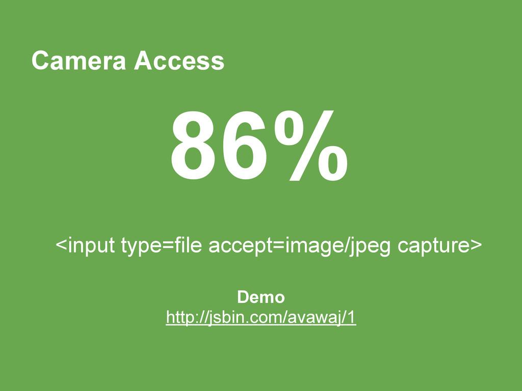 Camera Access <input type=file accept=image/jpe...