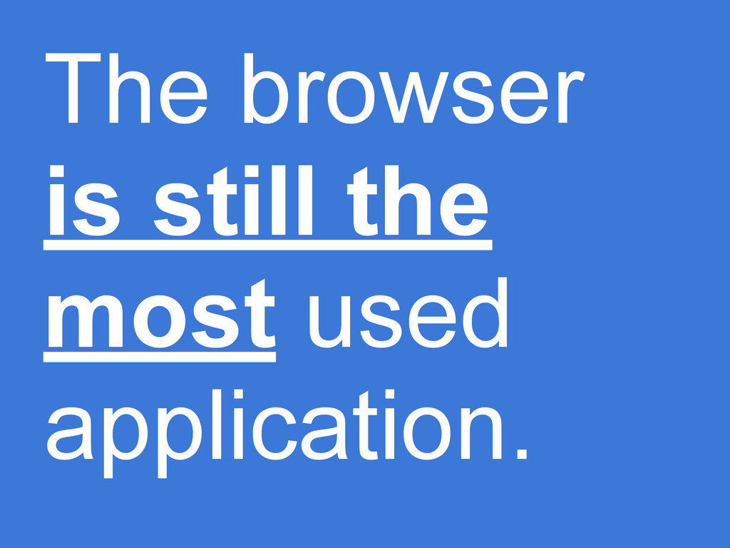 The browser is still the most used application.