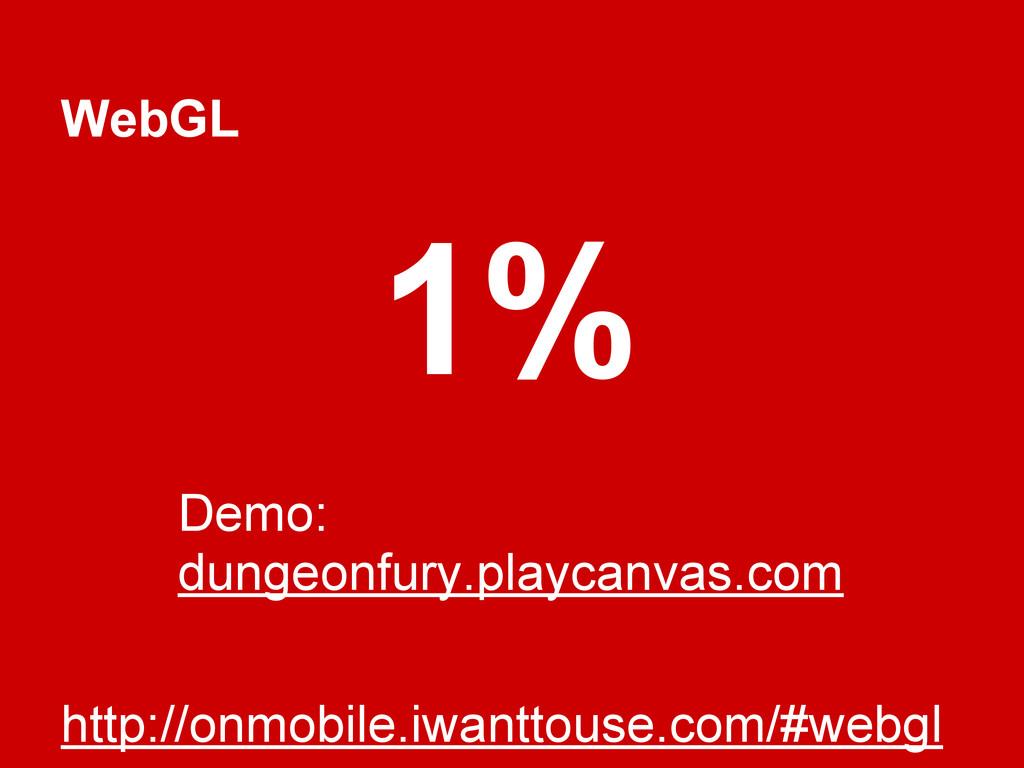 WebGL http://onmobile.iwanttouse.com/#webgl 1% ...