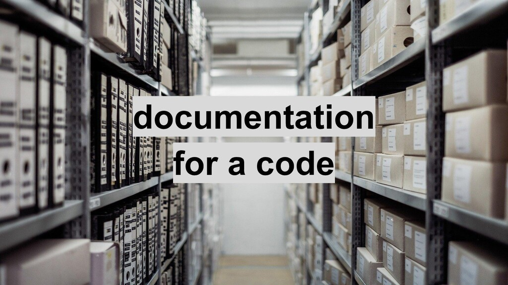 documentation for a code