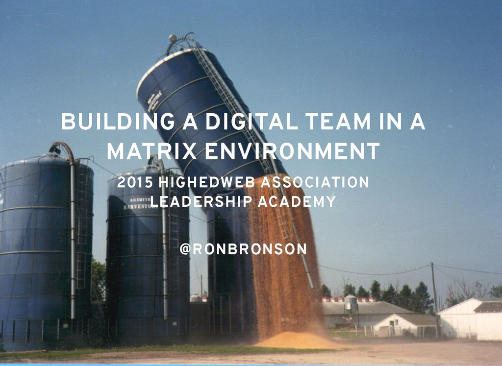 BUILDING A DIGITAL TEAM IN A BUILDING A DIGITAL...
