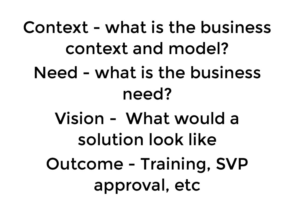 Context - what is the business Context - what i...