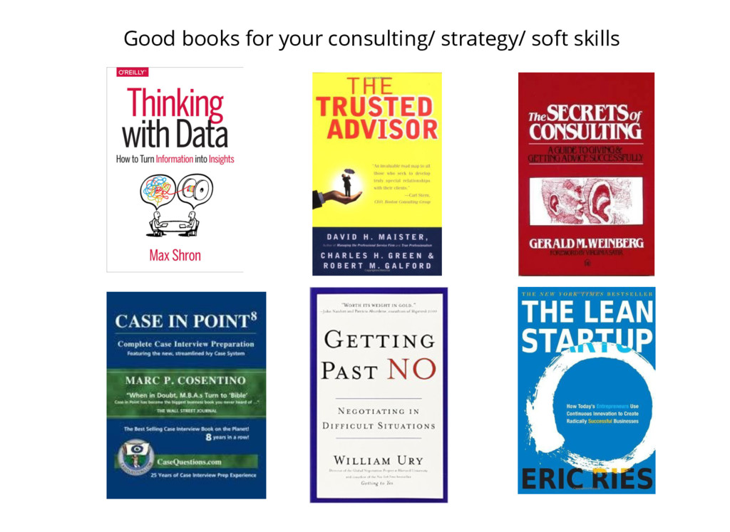 Good books for your consulting/ strategy/ soft ...