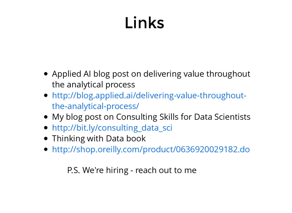 Links Links Applied AI blog post on delivering ...