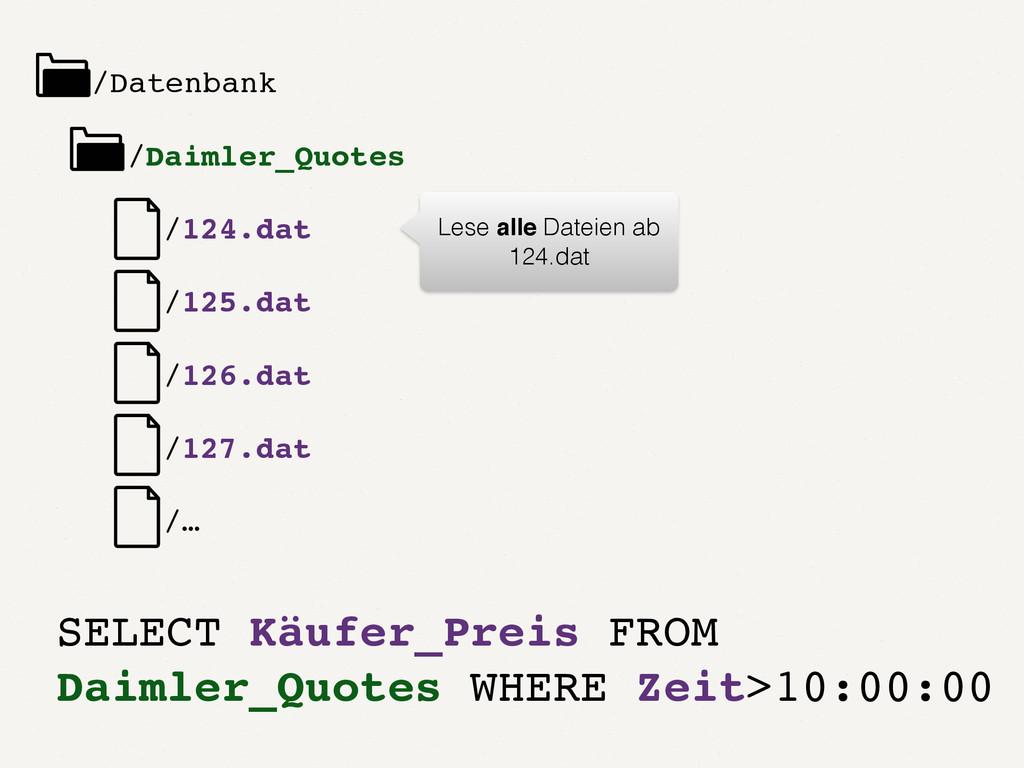 /Datenbank /Daimler_Quotes /1.dat /2.dat /3.dat...