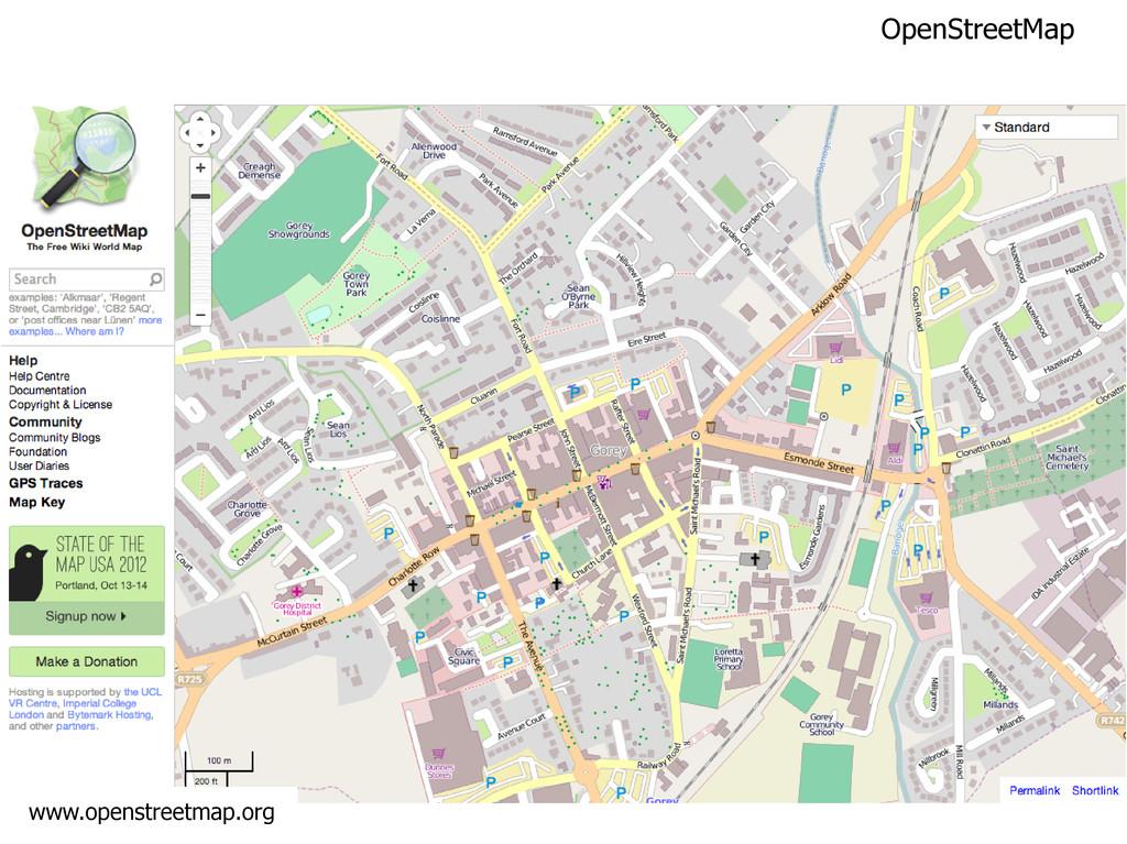 OpenStreetMap www.openstreetmap.org