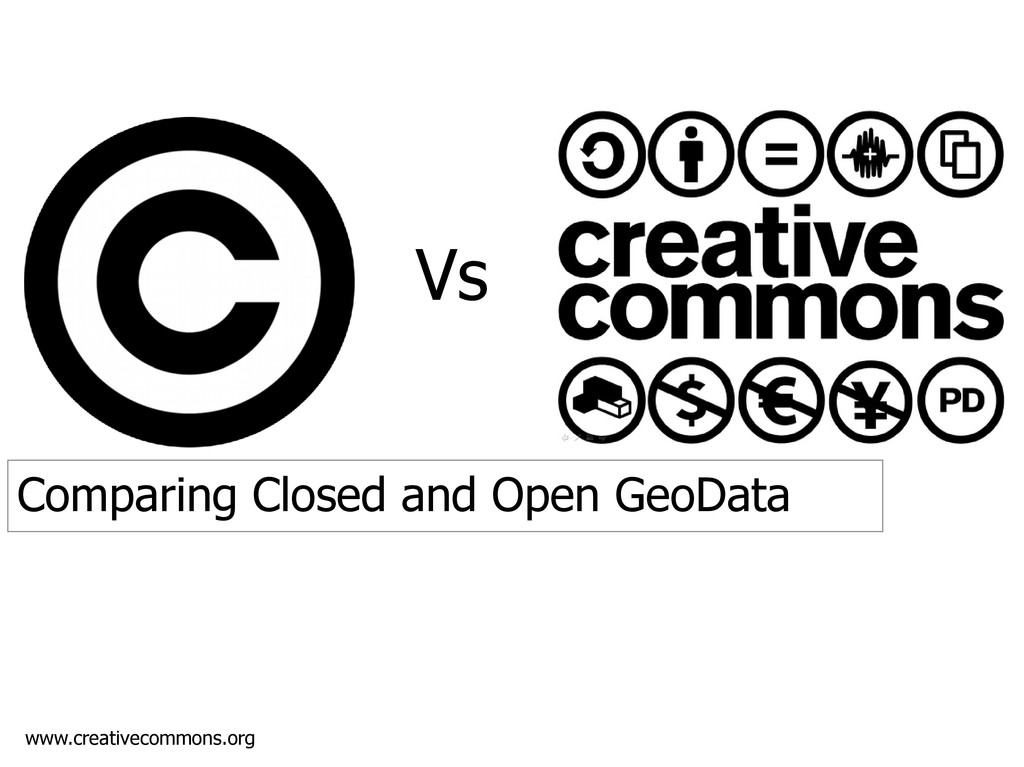 Vs www.creativecommons.org Comparing Closed and...
