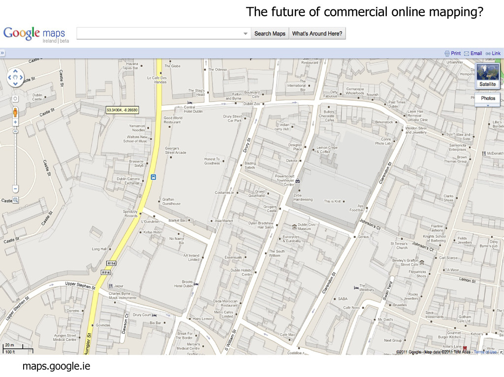 maps.google.ie The future of commercial online ...