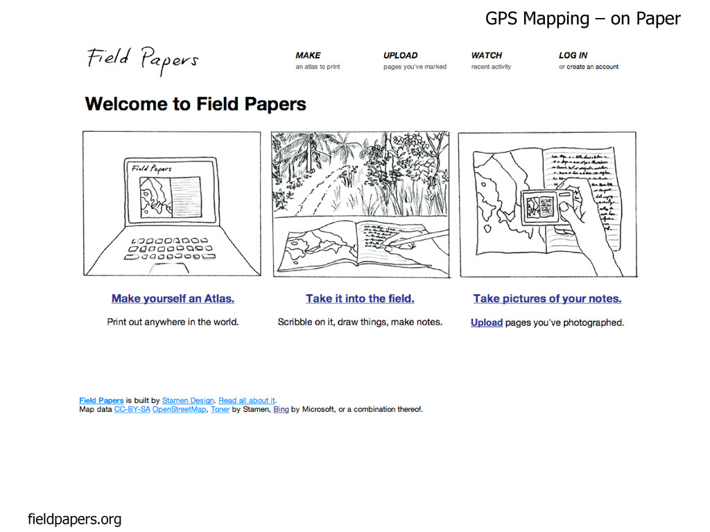 fieldpapers.org GPS Mapping – on Paper