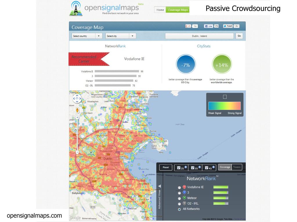 Passive Crowdsourcing opensignalmaps.com