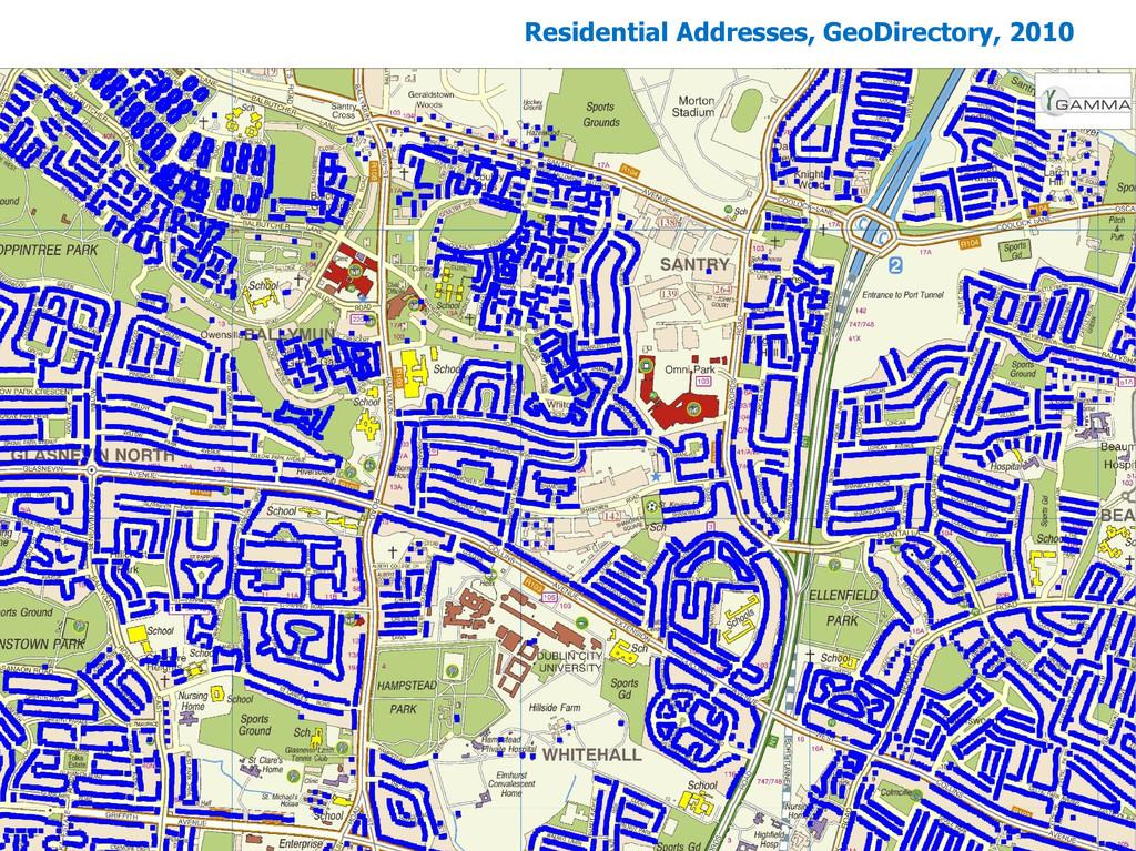 Residential Addresses, GeoDirectory, 2010