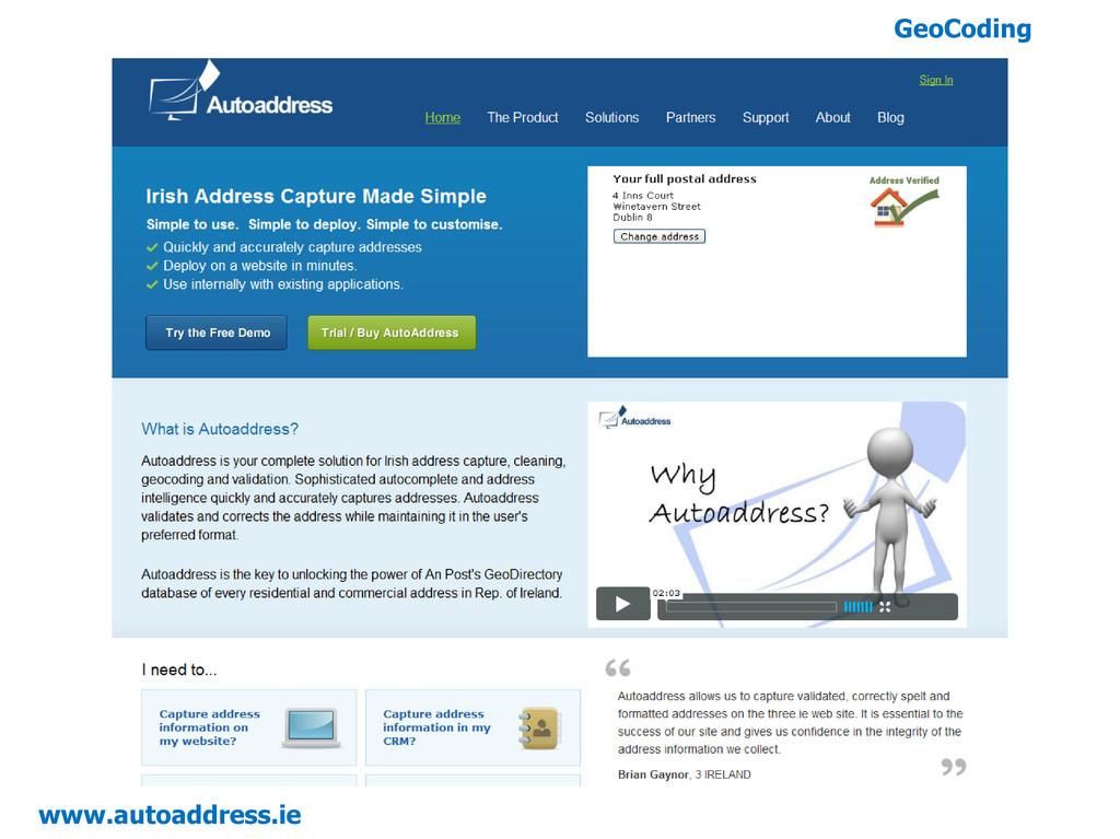 GeoCoding www.autoaddress.ie