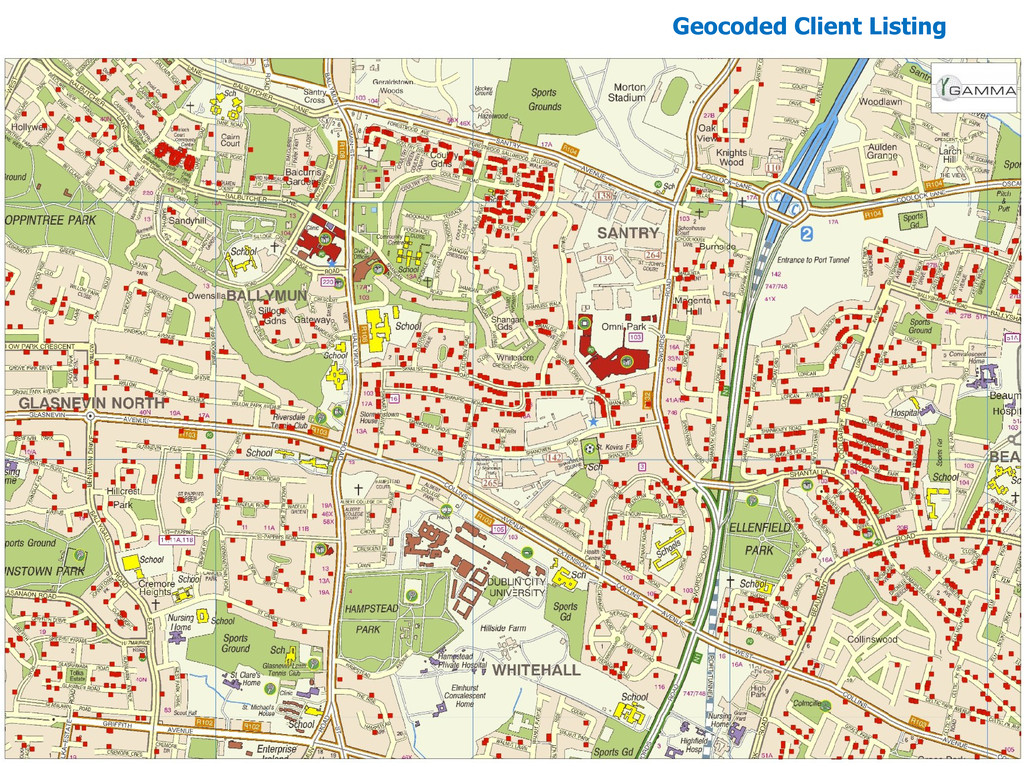 Geocoded Client Listing