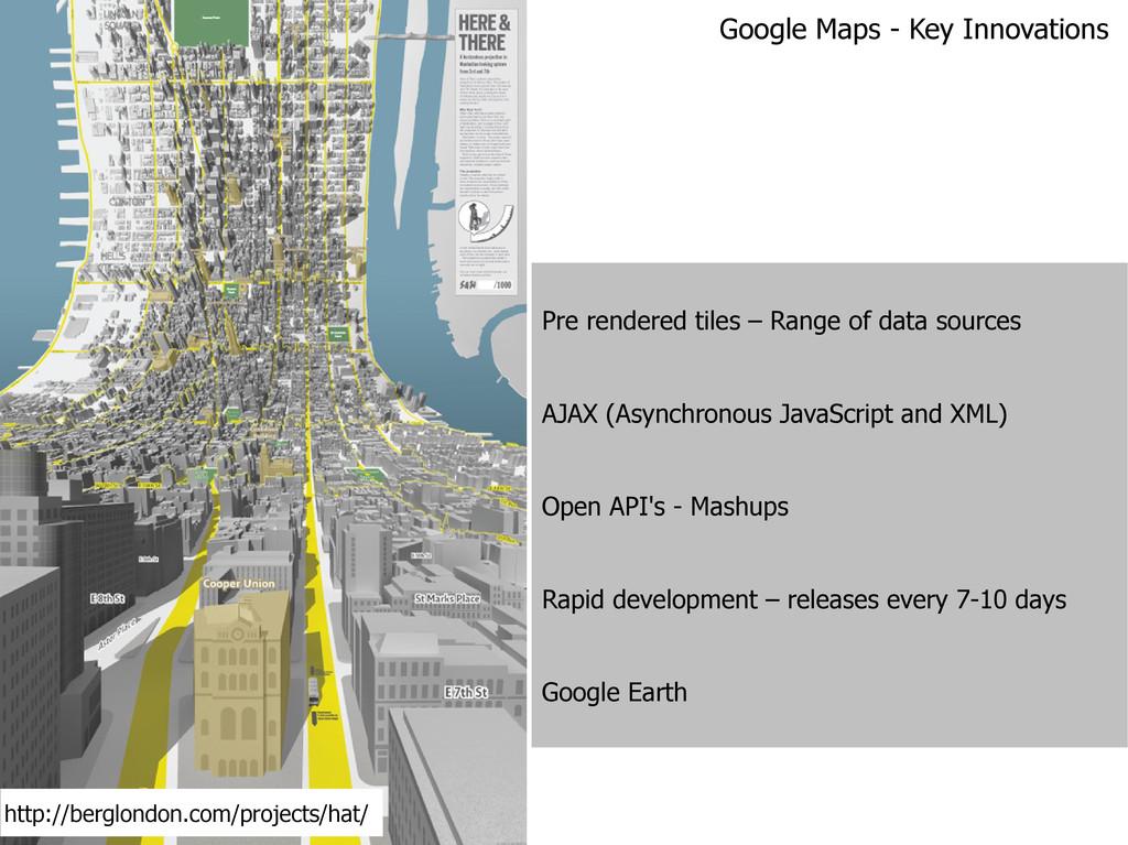 Pre rendered tiles – Range of data sources AJAX...
