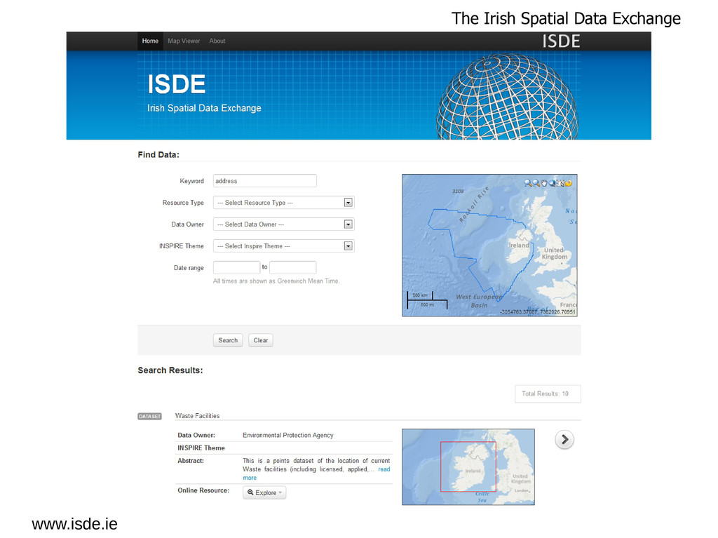 www.isde.ie The Irish Spatial Data Exchange