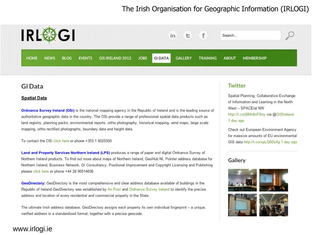 www.irlogi.ie The Irish Organisation for Geogra...