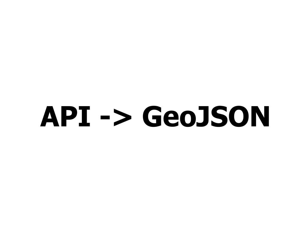 API -> GeoJSON