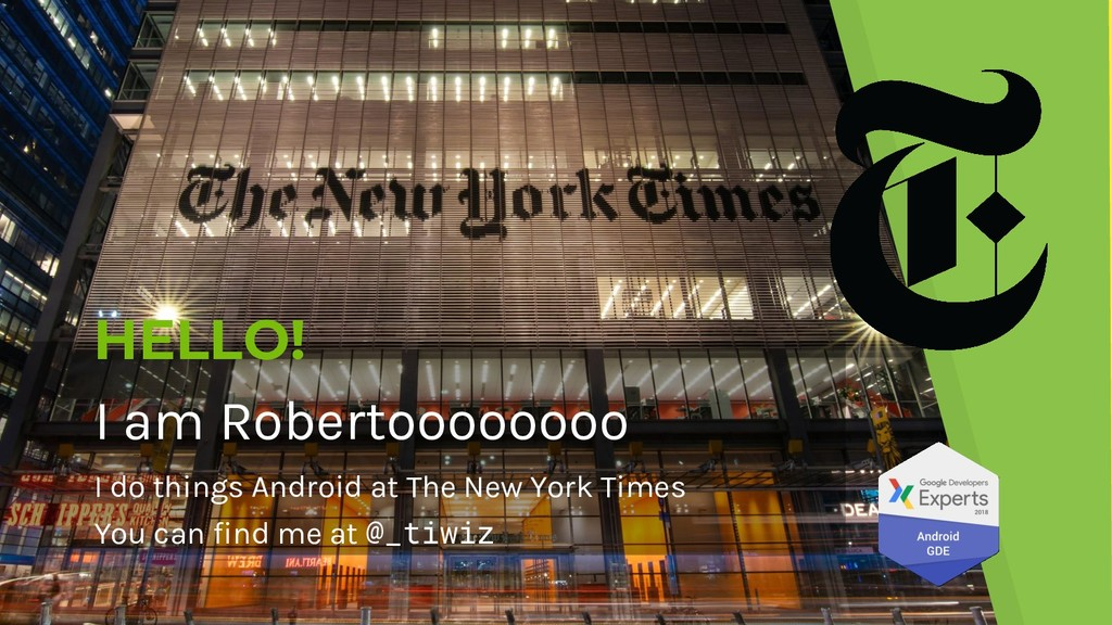 HELLO! I am Robertoooooooo I do things Android ...