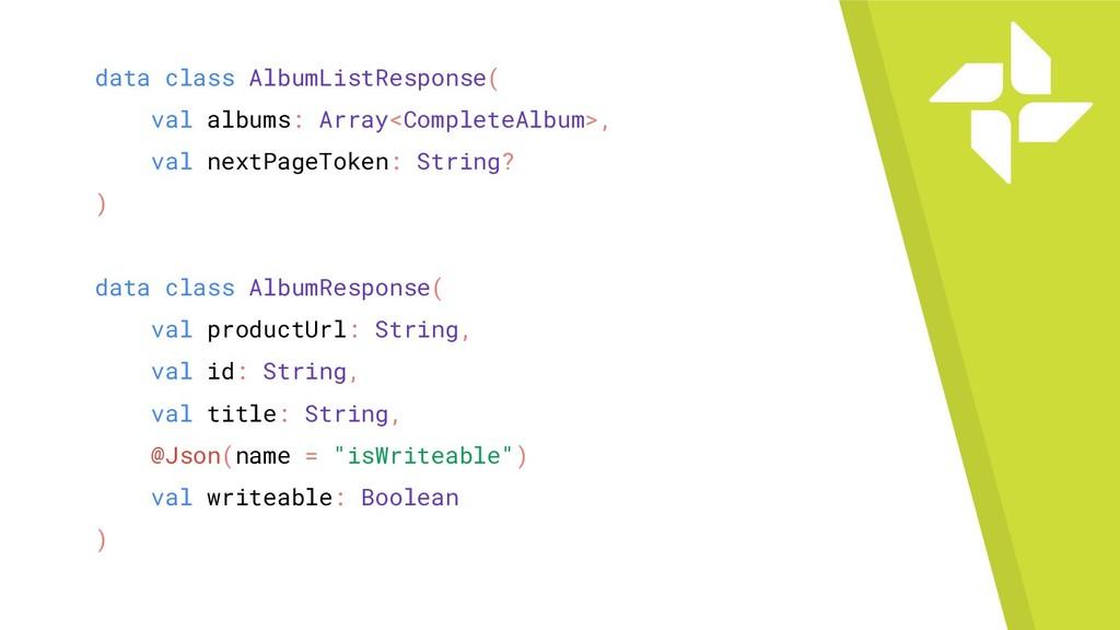 data class AlbumListResponse( val albums: Array...