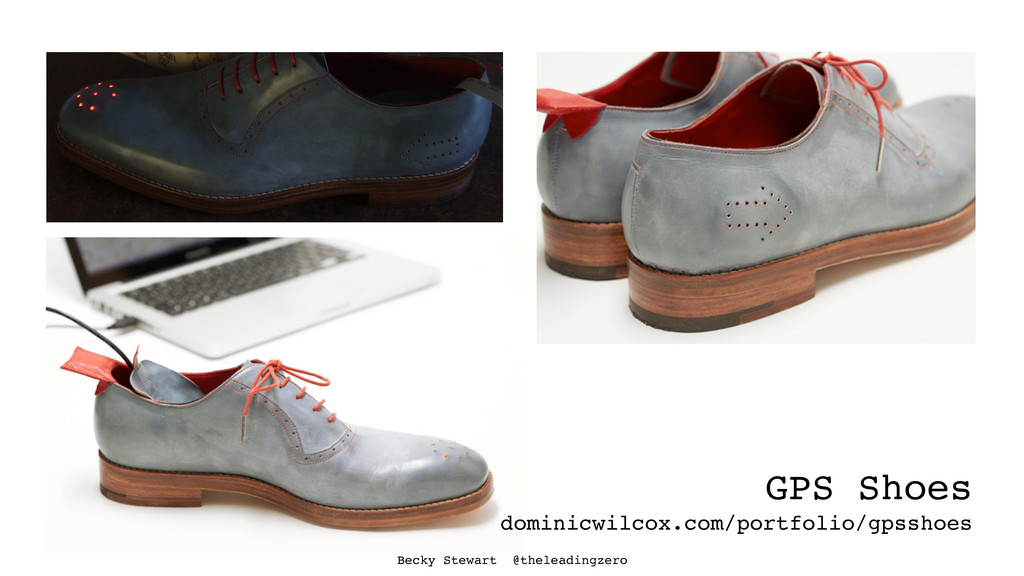 Becky Stewart @theleadingzero GPS Shoes dominic...
