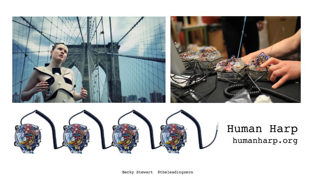 Human Harp humanharp.org Becky Stewart @thelead...