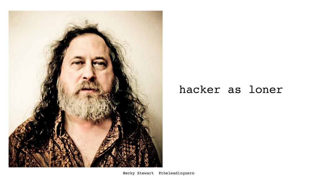 hacker as loner Becky Stewart @theleadingzero
