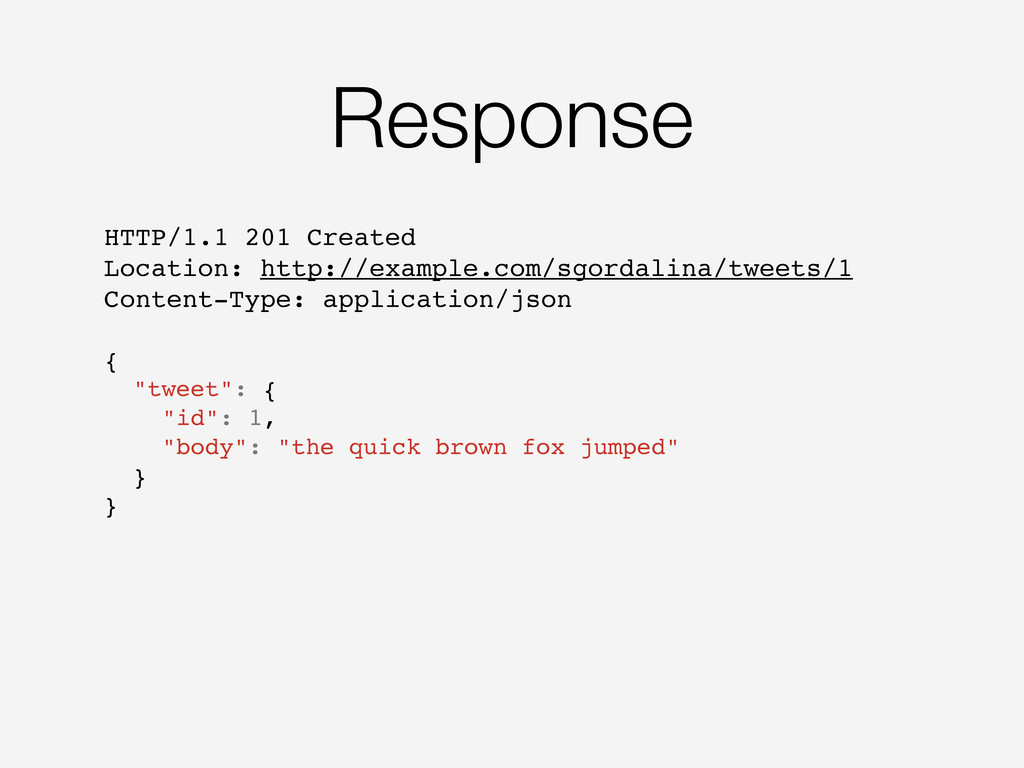 Response HTTP/1.1 201 Created Location: http://...