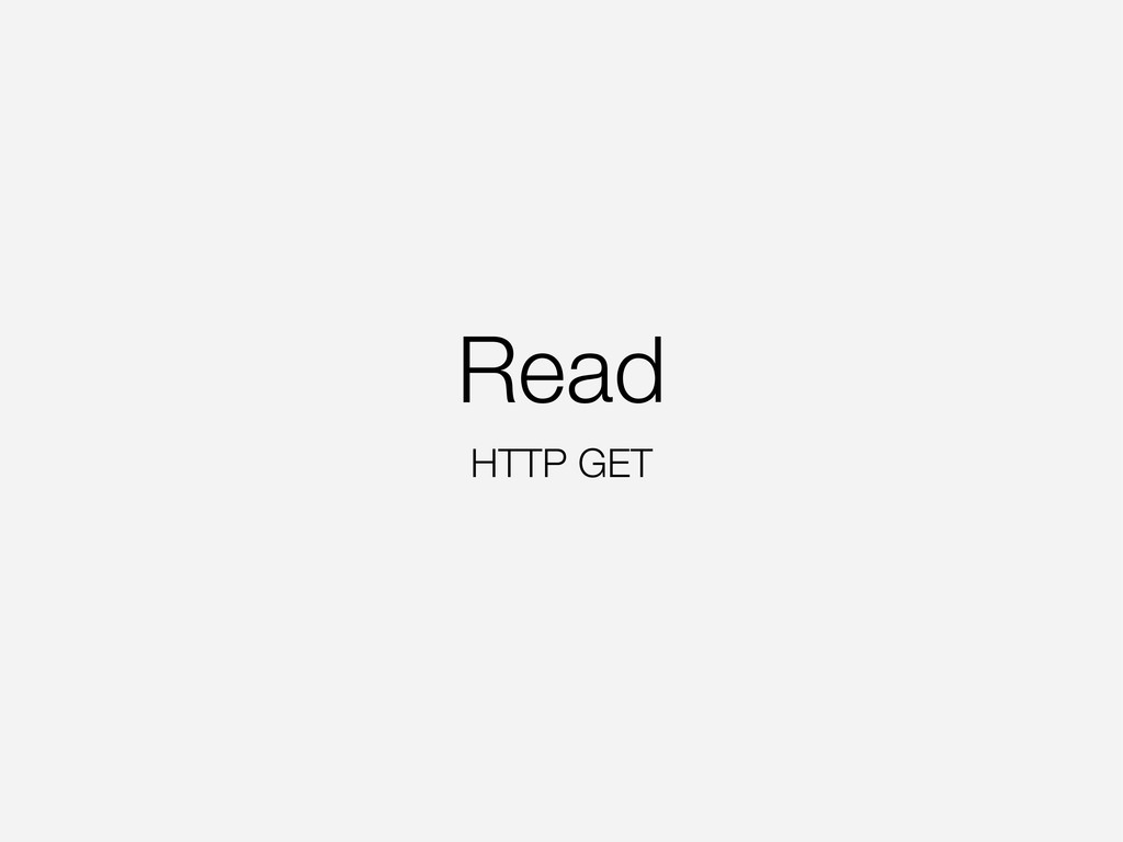 Read HTTP GET