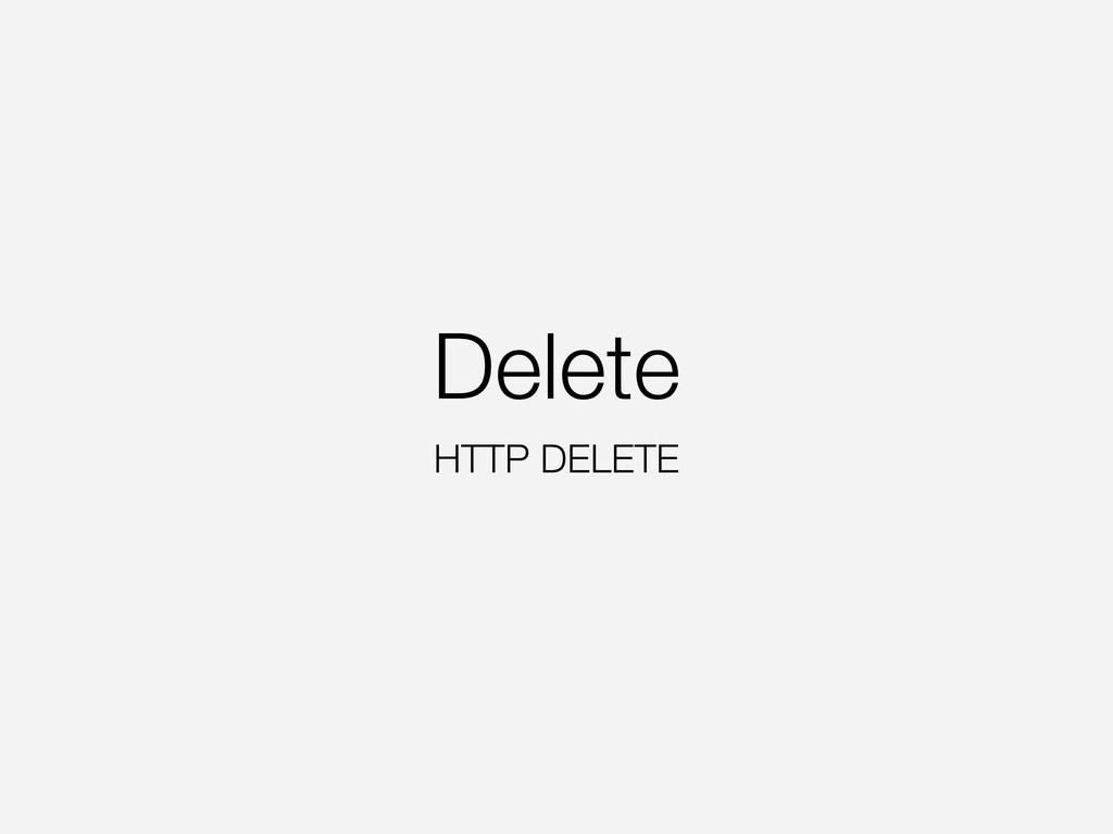 Delete HTTP DELETE