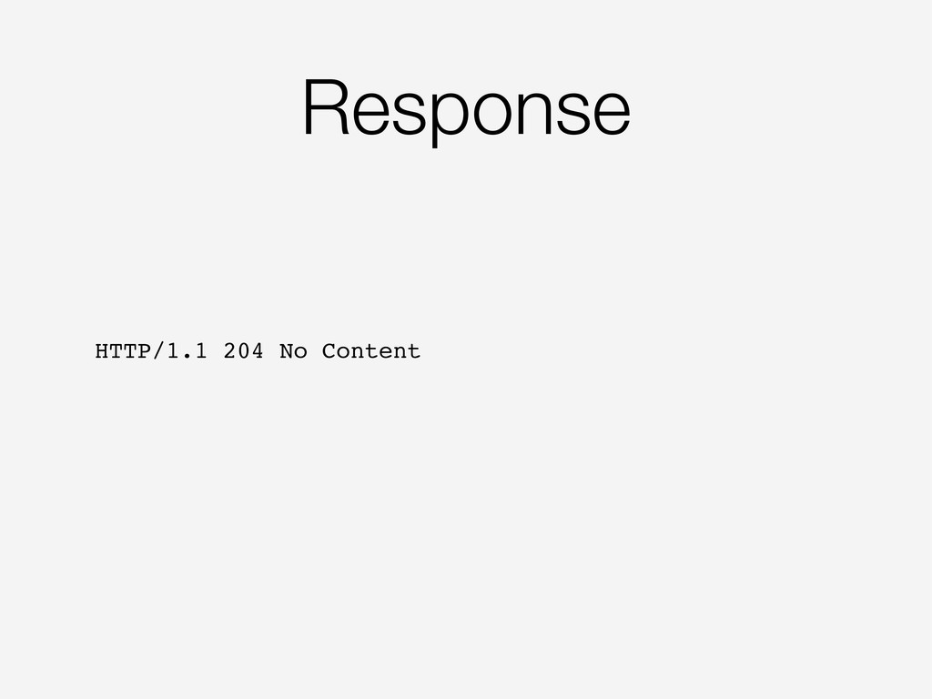 Response HTTP/1.1 204 No Content