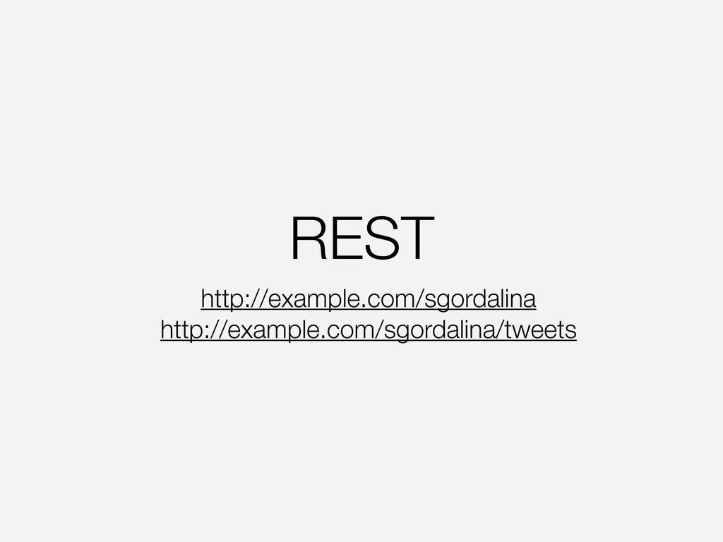 REST http://example.com/sgordalina http://examp...