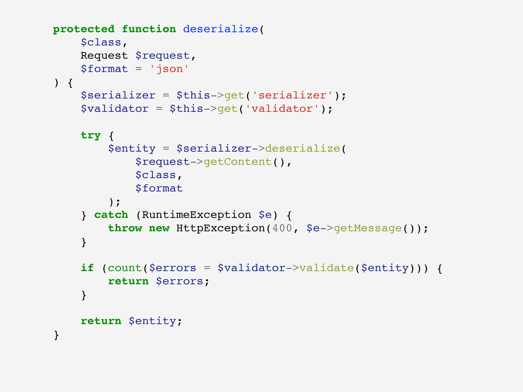 protected function deserialize( $class, Request...