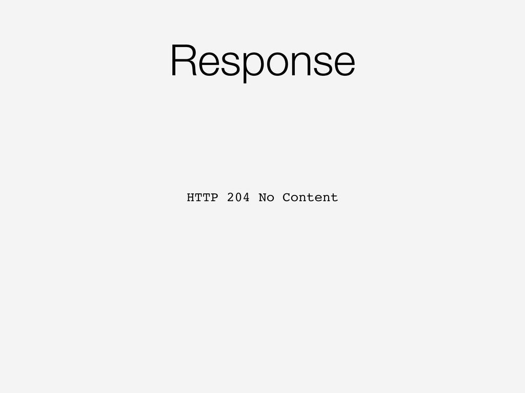Response HTTP 204 No Content