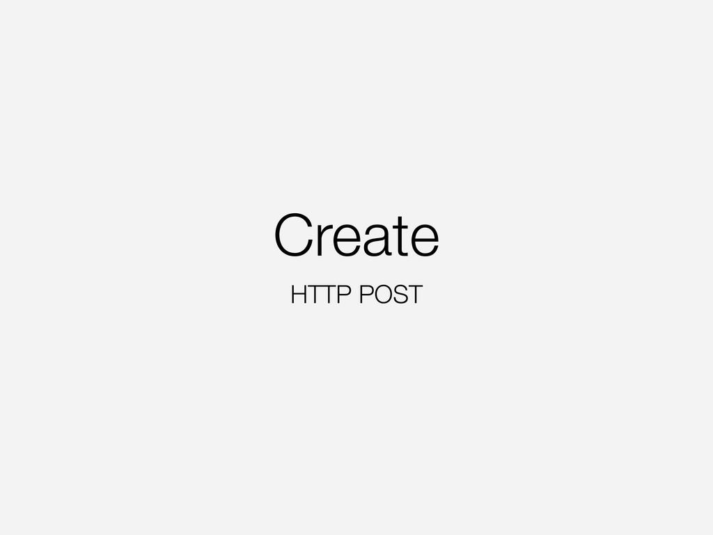 Create HTTP POST