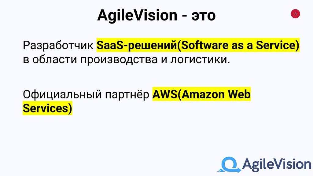3 AgileVision - это Разработчик SaaS-решений(So...