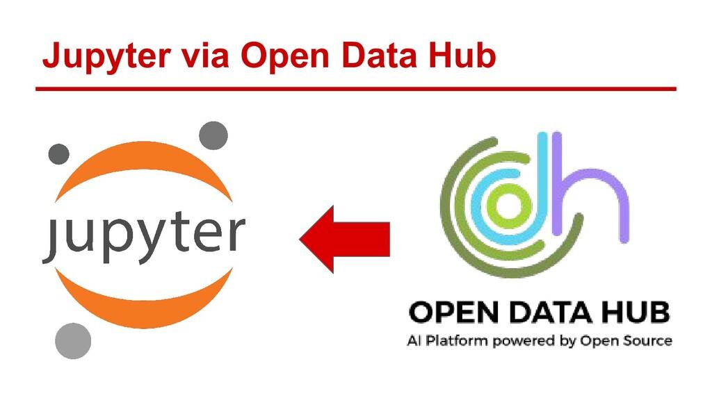 Jupyter via Open Data Hub