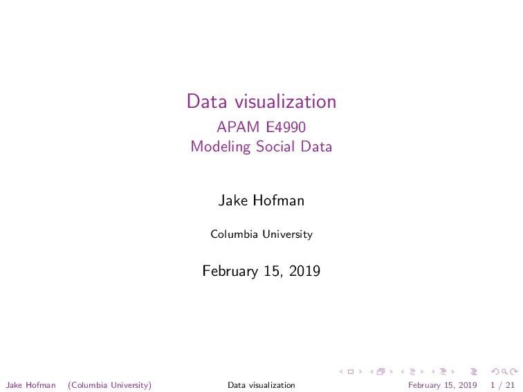 Data visualization APAM E4990 Modeling Social D...