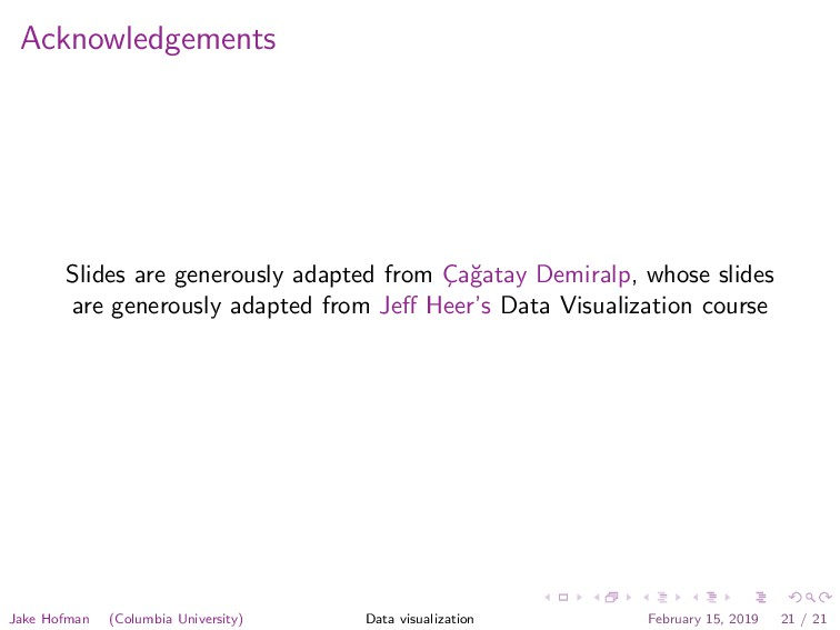 Acknowledgements Slides are generously adapted ...