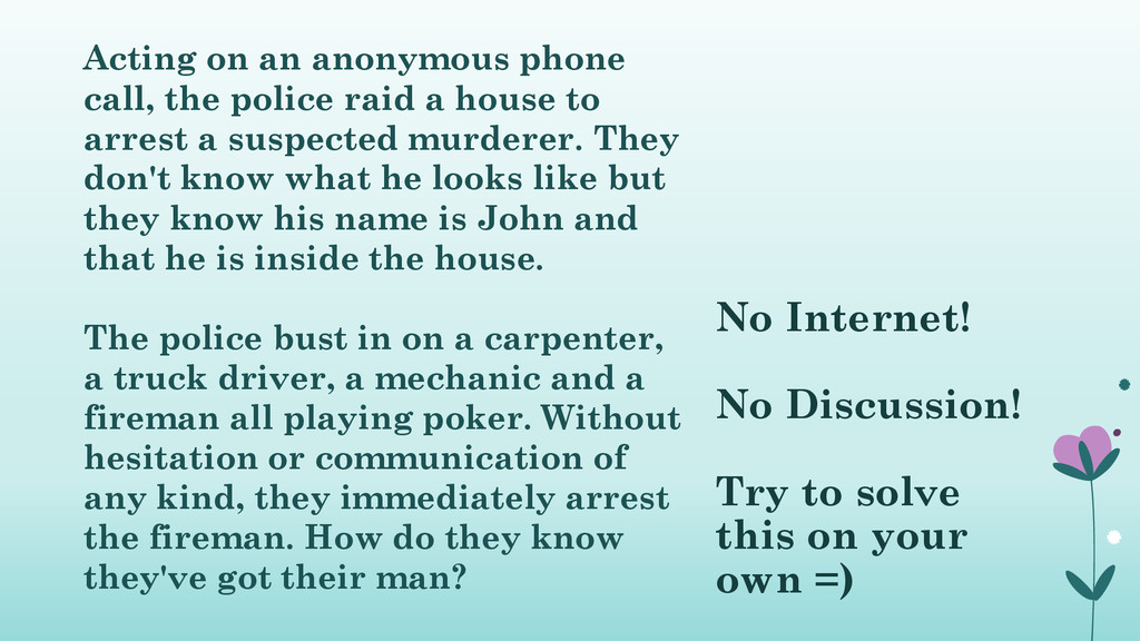 Acting on an anonymous phone call, the police r...
