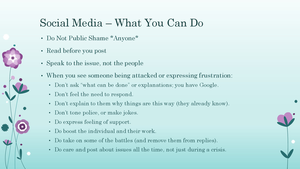 Social Media – What You Can Do • Do Not Public ...