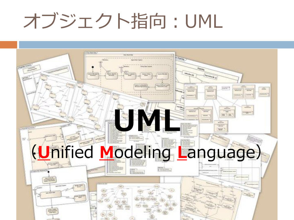 オブジェクト指向:UML UML (Unified Modeling Language)