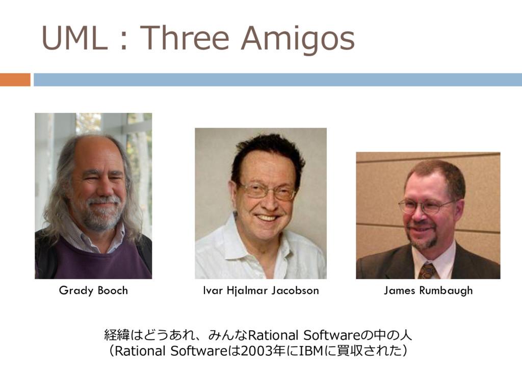 UML:Three Amigos Grady Booch Ivar Hjalmar Jacob...