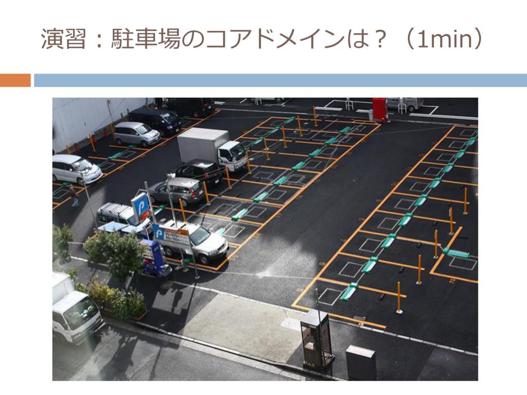 演習:駐車場のコアドメインは?(1min)
