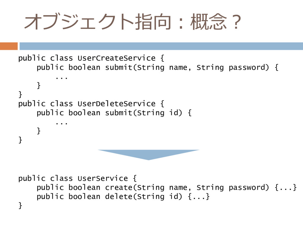 オブジェクト指向:概念? public class UserCreateService { p...