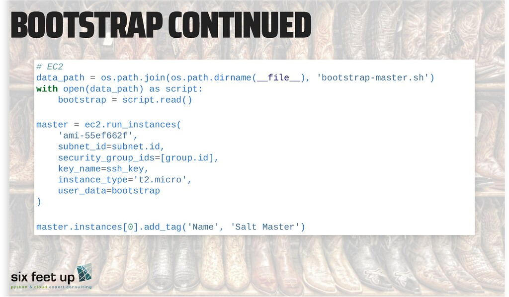 BOOTSTRAP CONTINUED BOOTSTRAP CONTINUED # EC2 d...