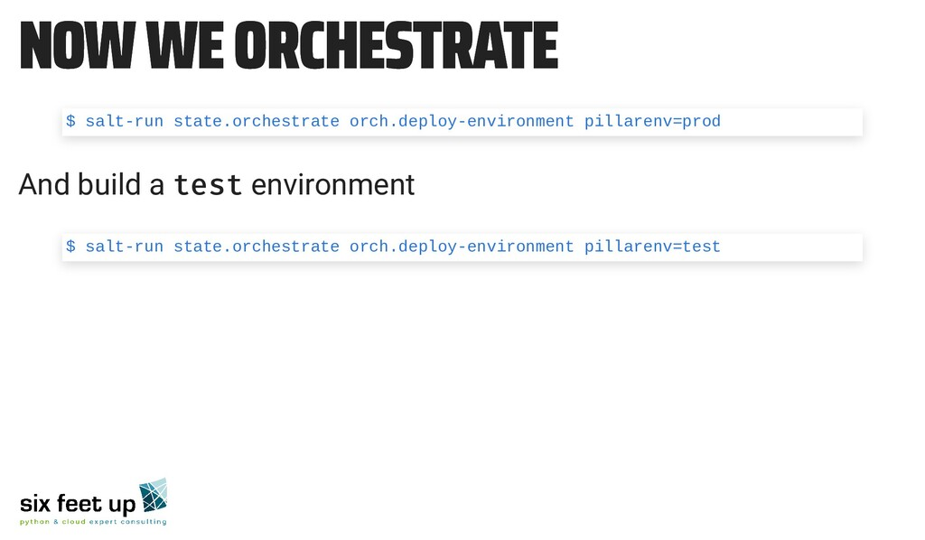 NOW WE ORCHESTRATE NOW WE ORCHESTRATE And build...