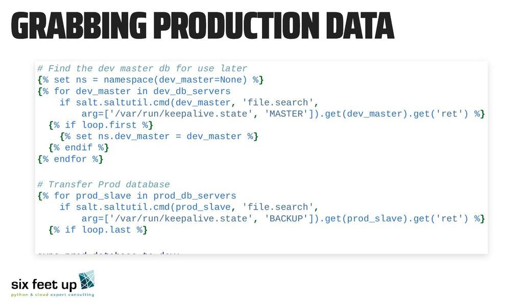 GRABBING PRODUCTION DATA GRABBING PRODUCTION DA...