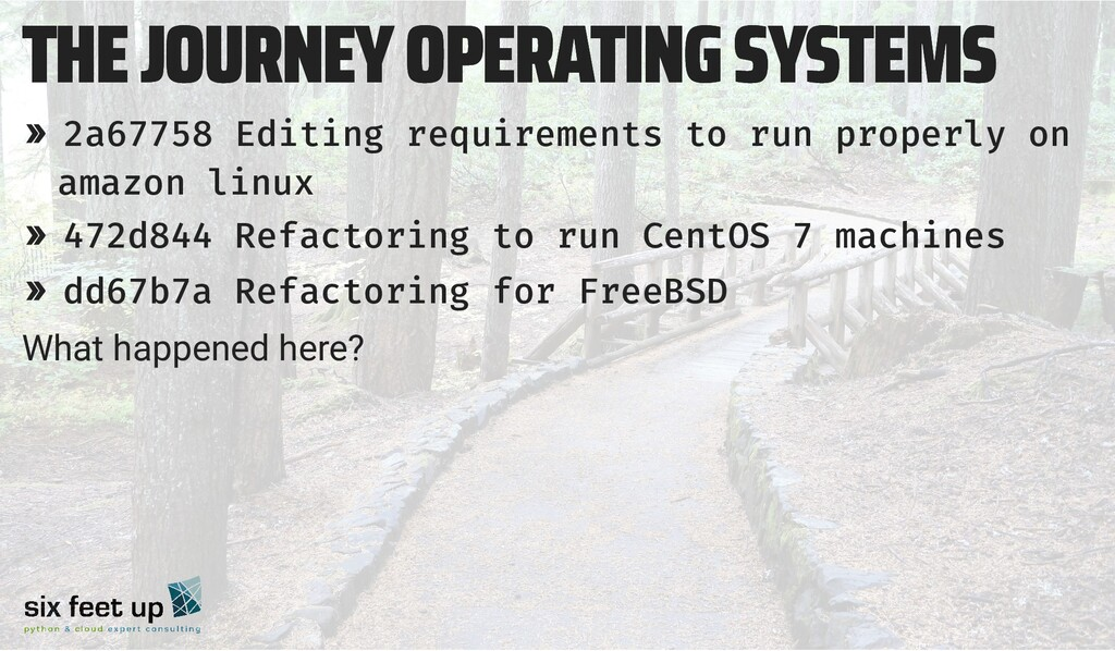 THE JOURNEY OPERATING SYSTEMS THE JOURNEY OPERA...