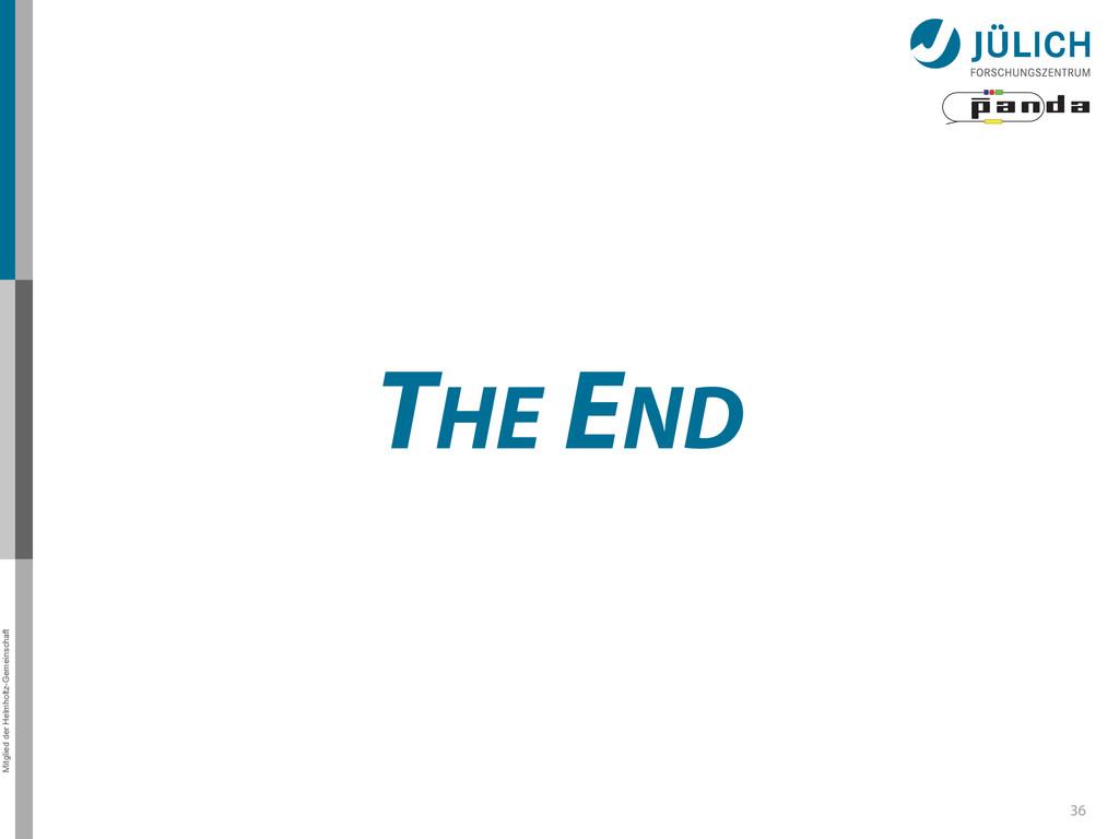 Mitglied der Helmholtz-Gemeinschaft THE END 36