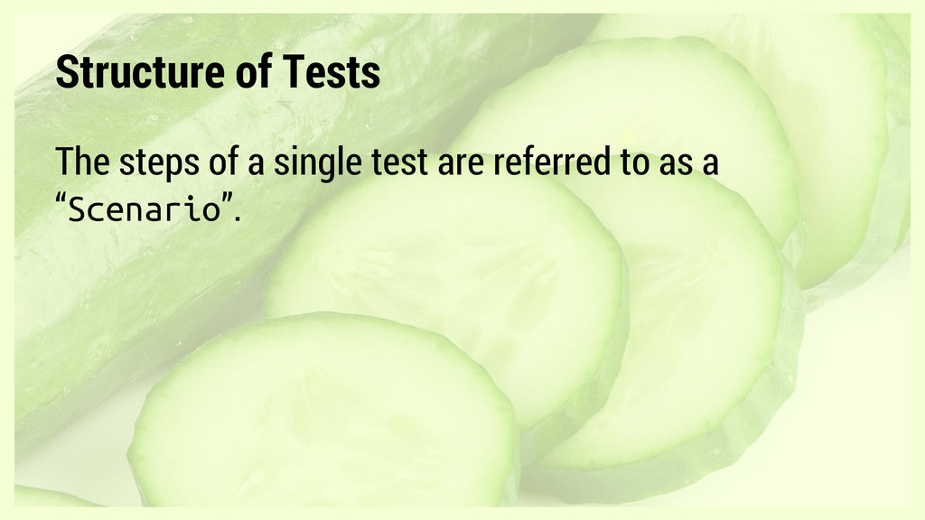 The steps of a single test are referred to as a...